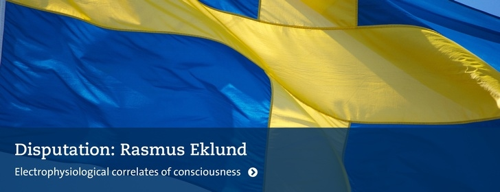 Disputationsflagga: Rasmus Eklund: Electrophysiological correlates of consciousness