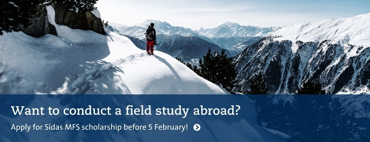 Want to conduct a field study abroad? Apply for Sidas MFS scholarship before 5 February!