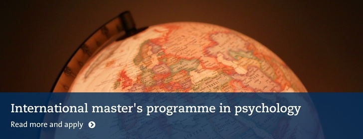 International master's programme in psychology. Read more and apply