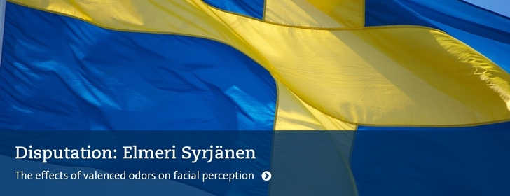 Disputationsflagga: Elmeri Syrjänen: The effects of valenced odors on facial perception